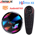 H96 MAX X3 Amlogic S905X3 Смарт ТВ приставка Android 9,0 TV Box Youtube 2,4G/5G двухъядерный процессор Wi-Fi 1080P 4K BT4.0 8K Google G30 голосового помощника