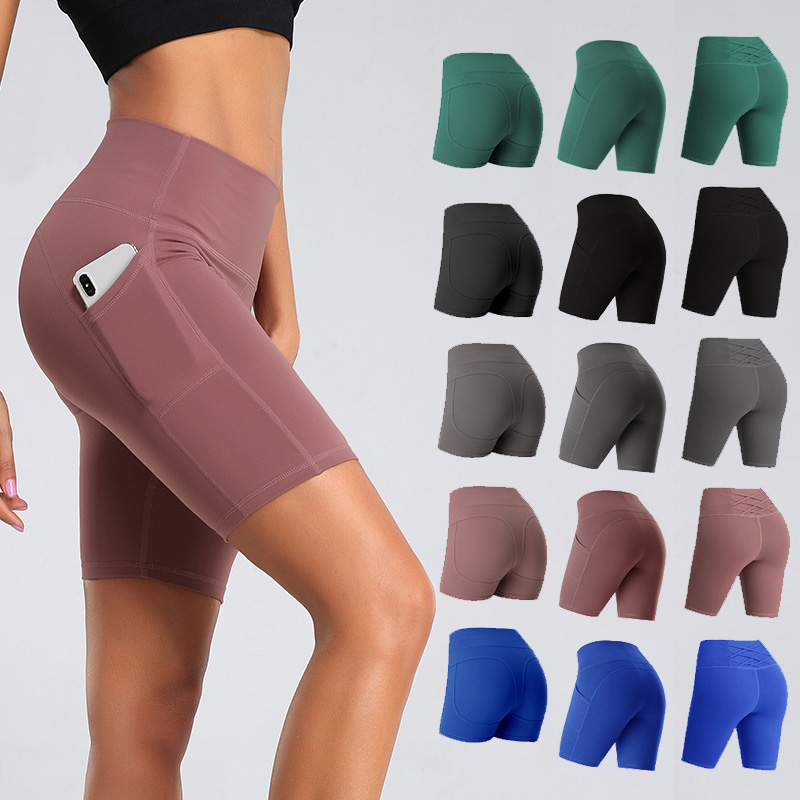 Hot Sale Yoga High Waist Sports Shorts Solid Dancing Women High Elastic Running Popular 1PC Fitness For Cycling Shorts Ladies