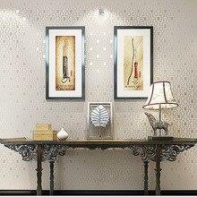 bedroom high-end home decoration3d texture non-woven fine pressed Square pattern Plain colo