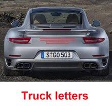 Letters Emblem for 986 718 Cayman Boxster 911 Carrera GTS Turbo Panamer 4S Macan Cayenne Executive E-hybrid Car Trunk Sticker carrera carrera master