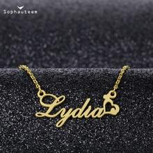 На заказ имя кулон ожерелья любовники% 27 девушки мужчины женщины щепка золото роза цепочки чокеры ожерелья подарок персонализированный буква номер