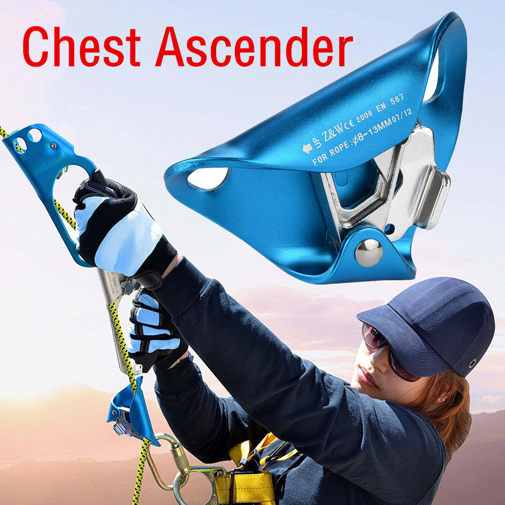 Climbing Chest Ascender Abdominal for Vertical Rope Locking Climbing Gear