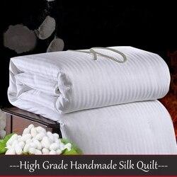 High Grade Bedding Silk Comforter Handmade Positioning Chinese Mulberry Silk Quilts 4 Seasons Silk Blankets 100%Silk Filler