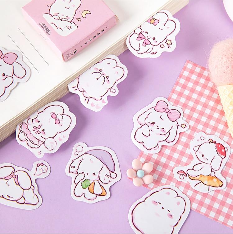 45 шт./кор. в виде милого кролика на каждый день, маленькие милые украшения наклейки планировщик для скрапбукинга канцелярские товары в Корейском стиле наклейки для дневника-1