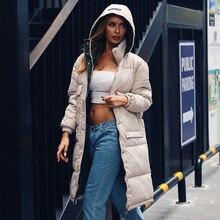 2019 New Winter Hooded Cotton Down Jacket Fur Coat Padded Women Collar Long Thick Warm Female Long Outwear Plus Size Coat цены онлайн