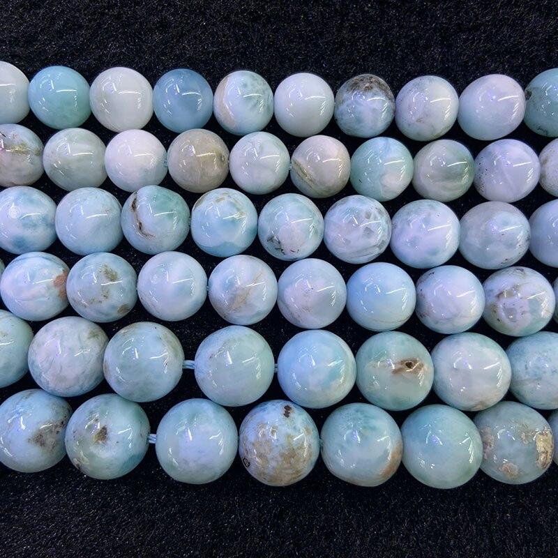 8 10 мм натуральный синий самоцвет LARIMAR камень бусины 15 Круглые DIY бусины для изготовления ювелирных изделий Аксессуары для женщин и мужчин п