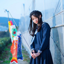 Flying-Toy Kite Windsock Streamer Fish-Flag Carp Japanese-Style Colorful