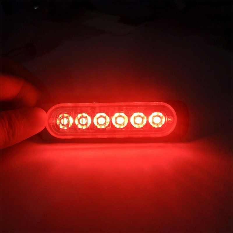 Khẩn cấp Ánh Sáng Nhấp Nháy 6 LED Hổ Phách Đa Năng 12V Nhấp Nháy Phục Hồi Cảnh Báo Bên Đèn Hiệu Thận Trọng Cho Xe Ô Tô, Xe Tải Mới