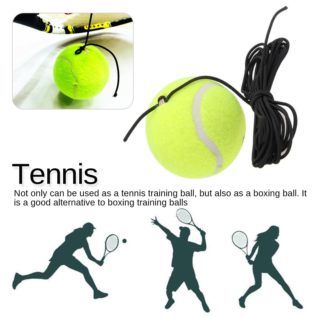 Tennis Trainer Training Primary Tool Exercise Tennis Ball Self-study Rebound Ball Tennis Trainer Baseboard