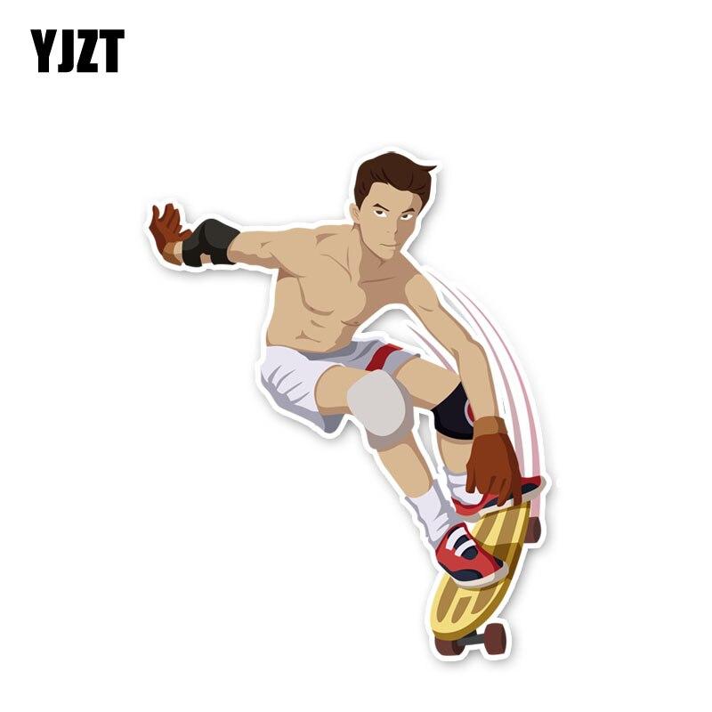 YJZT 13,7*11,2 см уникальные автомобильные наклейки для скейтборда и экстремального спорта
