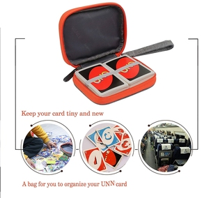 Image 2 - For Travel Carrying UNO Case Compatible Card Game Card package key case digital product,headphone wire storage bag (No card)