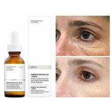 Zwykły 30ml roztwór kofeiny 5% + EGCG Serum do oczu usuwanie oczu torba ciemne oko koło rozjaśnianie cienka linia Essence pielęgnacja oczu