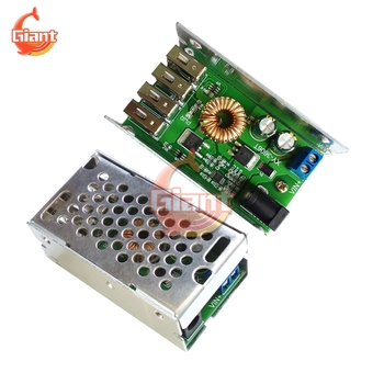 DC-DC 12V to 5V 5A 25W Buck Power Supply Module Step Down Converter Module DIY 4 USB Port For Car Motorcycles Battery Charging image