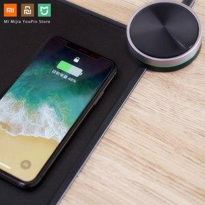 Image 4 - מקורי Xiaomi MIIIW משטח עכבר חכם Qi סטנדרטי תמיכה Mix2S אלחוטי טעינה שטיחי עכבר ABS עכבר מחצלת RGB אור משטח עכבר