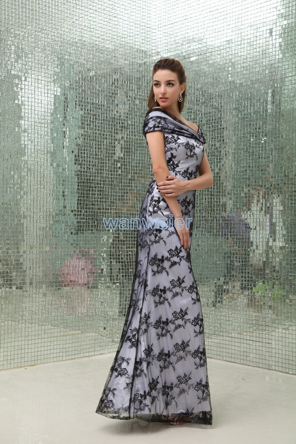 Free Shipping Woman Dresses 2018 Floor Length Long New Design Hot Sale Vestidos Formales Black Lace Mother Of The Bride Dresses