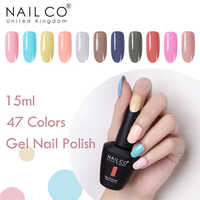 NAILCO 47 Cores Gel Unha Polonês Brilho LED UV Verniz Gel Nail Art Cartilha 15ml Gelpolish UV Semi Permanente gel Esmalte Laca