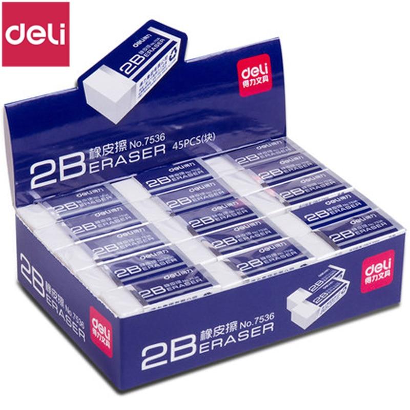 Ластик DELI 7536 2B, 10 шт., чистый ластик, не оставляя следов, оптовая продажа, товары для студентов, ластик