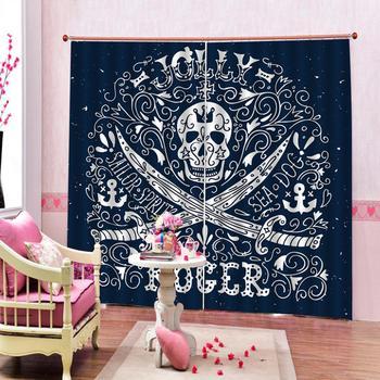 Custom curtains Weird avatar knife pattern European 3D Curtains For Living room Blackout
