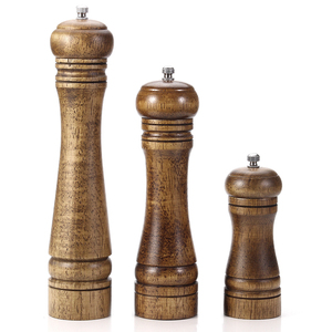 Salt and Pepper Mill, Wood Pepper Shakers with Strong Adjustable Ceramic Grinder with spare Ceramic Rotor - kitchen accessories