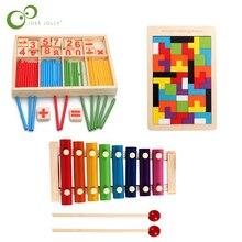 Di legno Math Conteggio Bastone Set di Corrispondenza Digitale Bordo Giocattoli Educativi della Prima Infanzia Giocattoli Cervello Gioco LXX