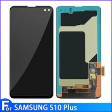 Yeni LCD SAMSUNG Galaxy S10 G9730 ekran S10 + artı G9750 için Lcd ekran dokunmatik ekran Digitizer parçaları Samsung s10 S10 artı