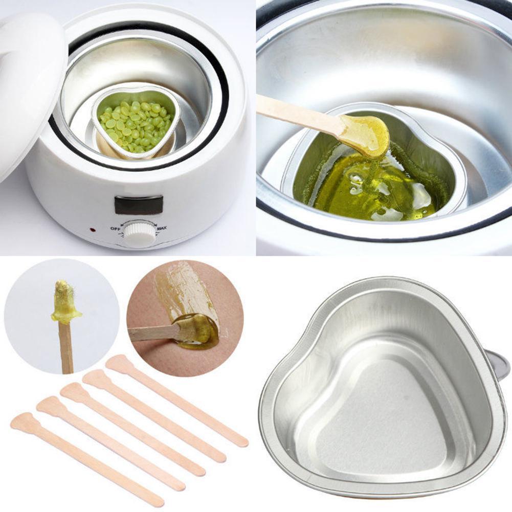 Disposable Hair Removal Hard Wax Bean Melt Bowl Warmer Depilatory Waxing Wood Stick Spatula For Beauty Tools