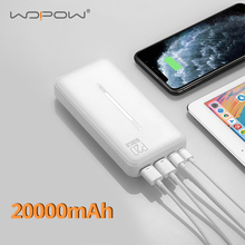 Portable Charger Power-Bank External-Battery 20000-Mah iPhone Xiaomi WOPOW with LED