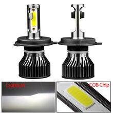 H4 h7 светодиодный фар автомобиля лампы 12000lm canbus luces