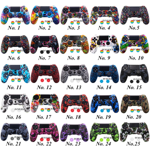 Image 2 - IVYUEEN 25 Colors Silicone Skin Case for Playstation Dualshock 4 PS4 Pro Slim Controller Protective Cover Thumb Joystick Grips