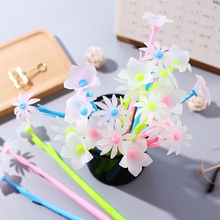 10 Pcs Cute Gel Pen Mixed Style Flower Pens Stationery Creative Gift Office School Supply Signing Black Ink