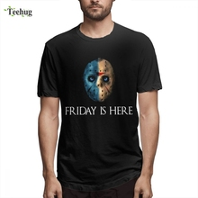 Custom Male Friday Is Here Homme Tee Shirt Novelty Unique 100% Cotton For Man Short-sleeved