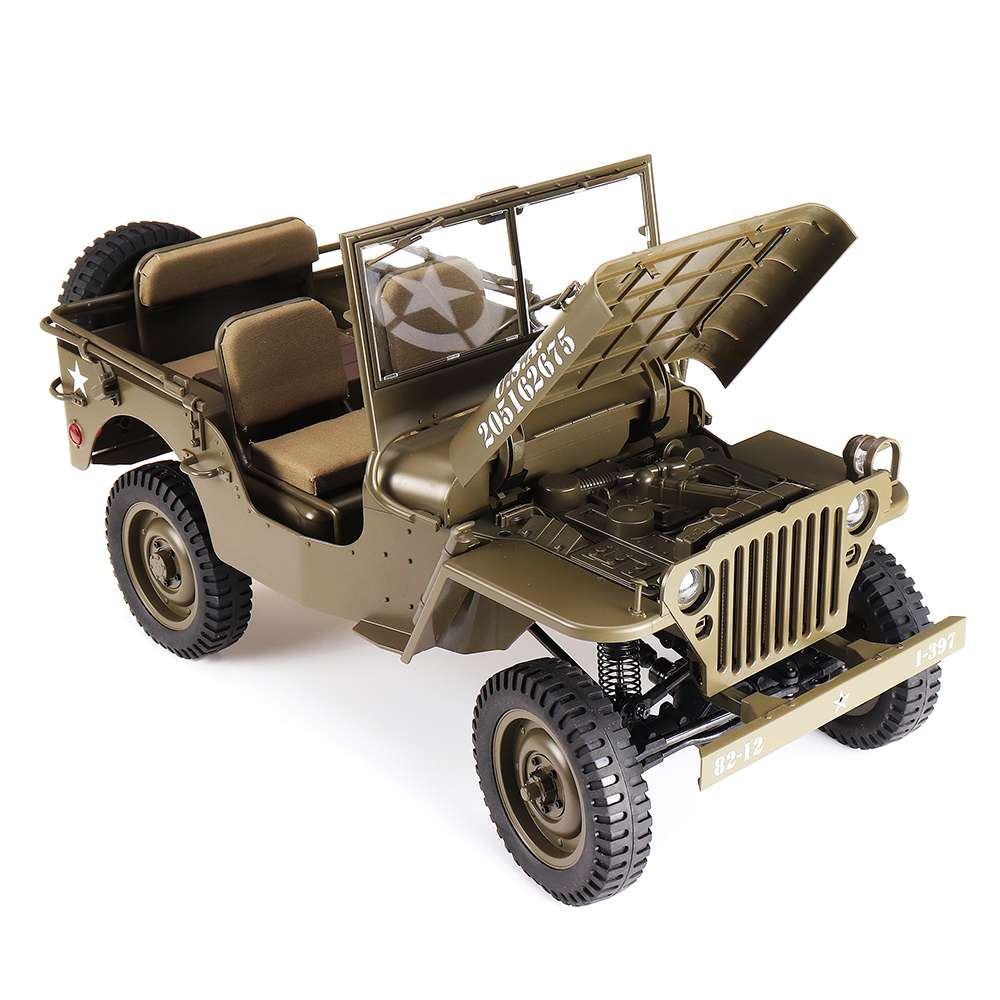 Fast Shipping ROCHOBBY RC Car 1:6 2.4G 2CH 1941 MB SCALER Radio Control Car Waterproof Vehicle Models without battery In Stock