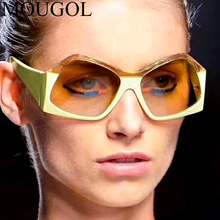 New Oversized Luxury Sunglasses Women Clean Lens Sun Glasses Female Two Color Patchwork Eyewear Brand Designer Ladies