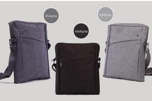 Image 2 - CAI 32cm Men Messenger Shoulder Bag Laptop Book Briefcase for iPad Tablet Handbag School Office Bags Crossbody Sling Tote
