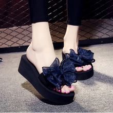 2019 New Womens Flip Flops Outside Summer Slippers Platform Shoes Lady Size 40 41 42 wo19056