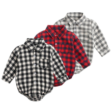 Infant Bodysuit Rompers Collar Spring Long-Sleeve Pure-Cotton-Costume Girls Baby-Boys
