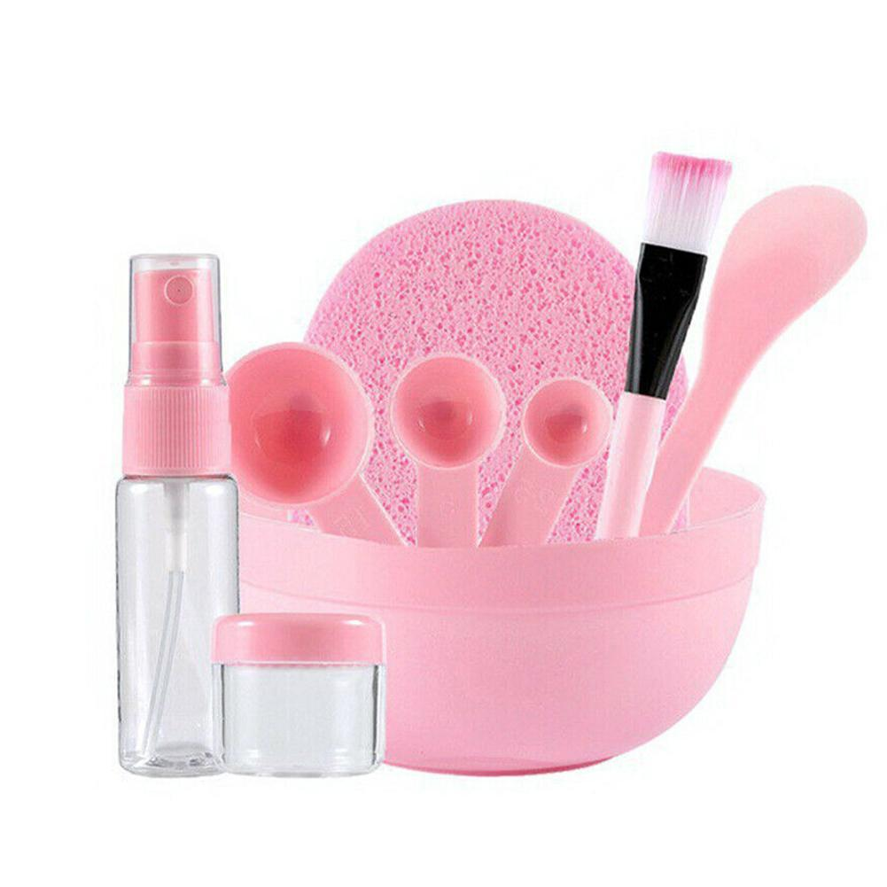 9pcs DIY Mask Bowl Brush Beauty Tool Homemade Stick Spray Bottle Measuring Spoon Set Cosmetic Accessories