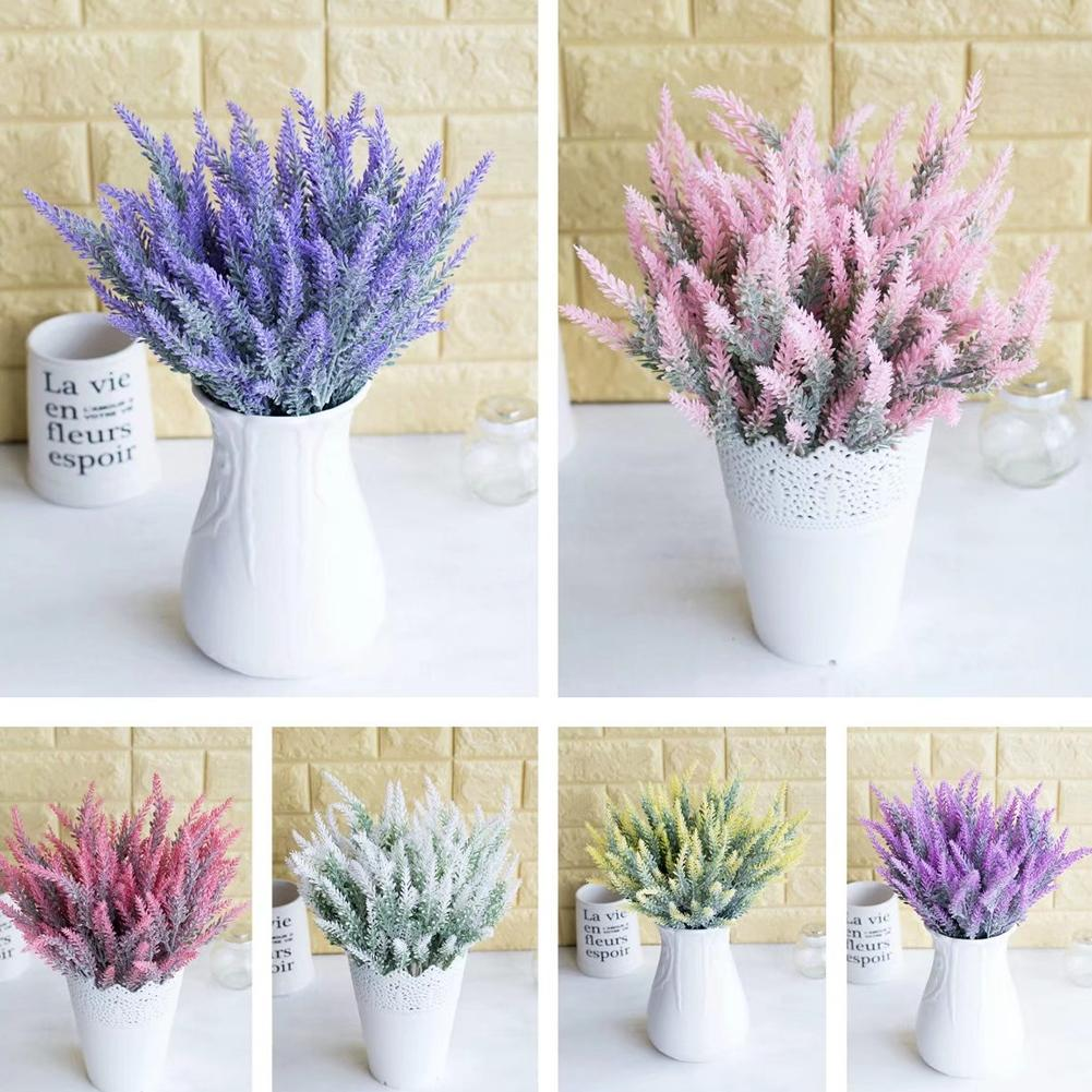 1Pc Artificial Fake Lavender Flower Plants Simulation Plant Wedding Party Home Office Desktop Decoration