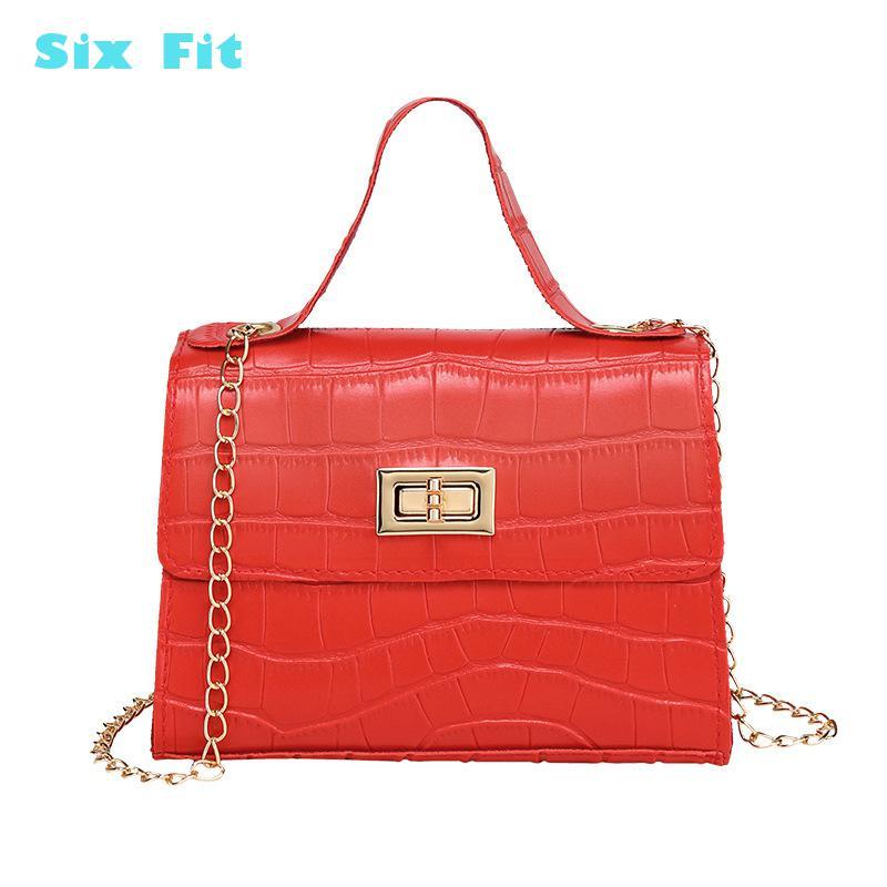 summer Lady Small Flap criss-cross Bag Korean version of the Messenger bag handbag gold chain wild crack printing wild shoulder