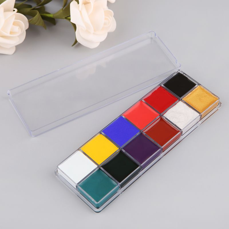 Professional Face Body 12 Colors Oil Painting Paint Pigment For Beauty Kit Makeup Cosmetic Supplies M5TB