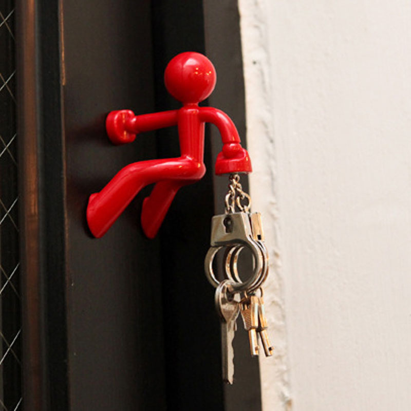 1pc Magnetic Villain Key Hangers Super Magnetic Iron Hook Climbing Wall Villain Refrigerator Stickers Home Decor !