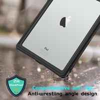 protective tpu For iPad 10.2 inch 2019 Waterproof Case Dual Layer PC + TPU Cover IP69 Waterproof Dustproof Anti-fall Tablet Protective Shell (2)