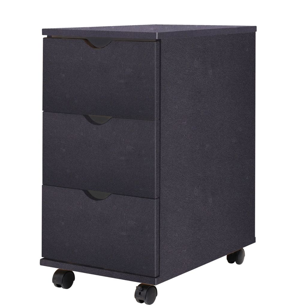 VidaXL Drawer Unit 33x45x60 Cm Black