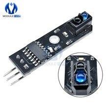 10 pces ir linha infravermelha reflexão pista seguidor sensor tcrt5000 obstáculo evitanc para arduino avr braço pic dc 5v sinal digital