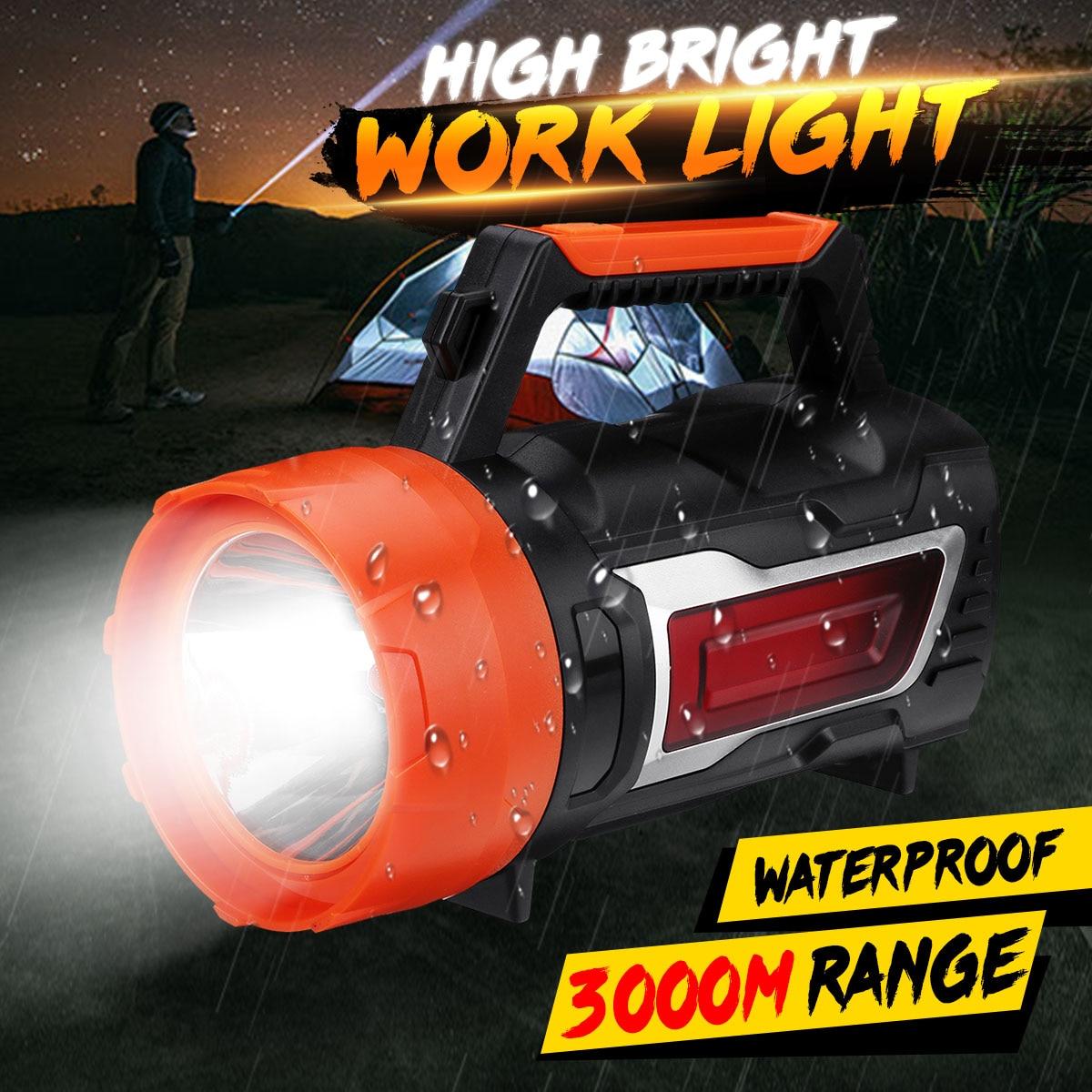 500w High Power Super Bright LED Searchlight Outdoor Handheld Portable Spotlight Lantern Rechargeable Flashlight USB Lamp