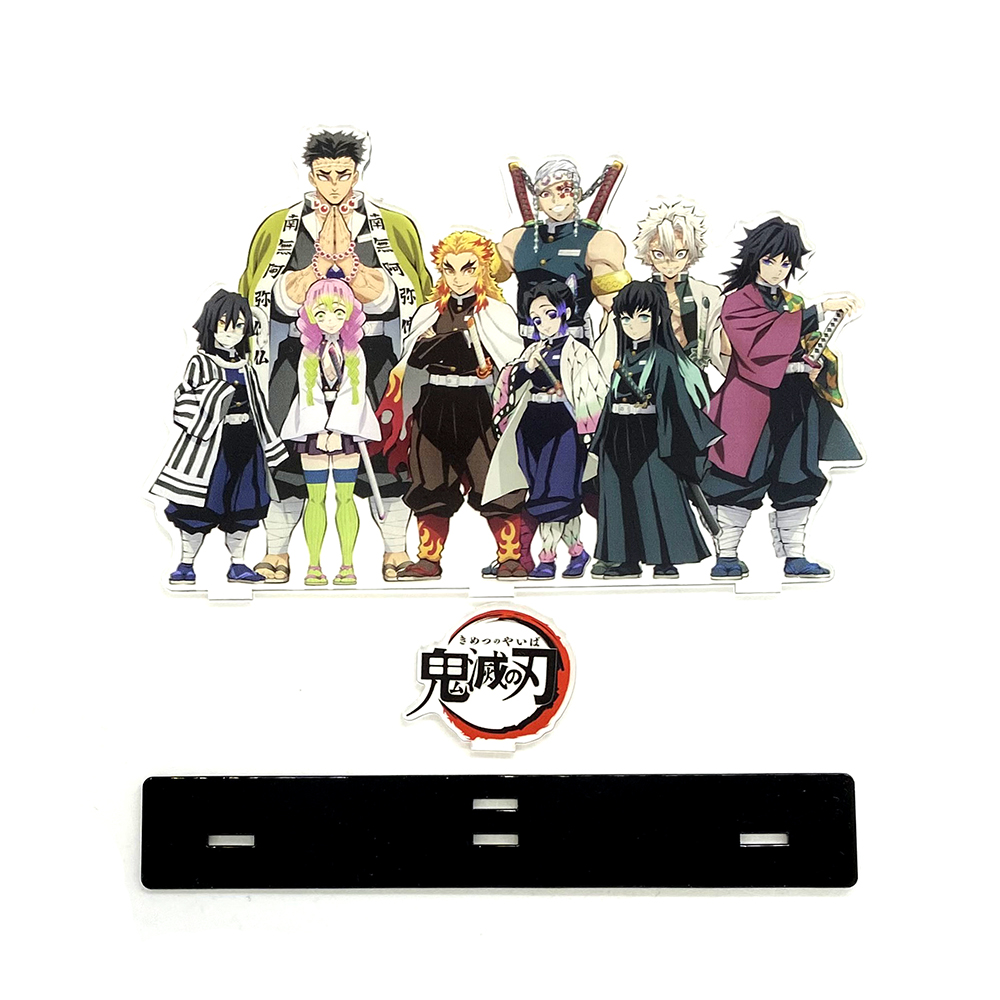 Love Thank You Demon Slayer Kimetsu no Yaiba Hashira Giyuu Muichirou Shinob acrylic stand figure model plate holder cake topper