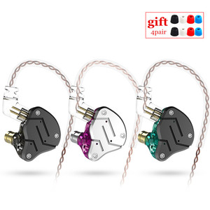 Image 1 - KZ ZSN 1BA+1DD Heavy bass commutative cable earphone HIFI Quad core controlled music movement ZST AS10 ZS10 BA10 ES4 V80 T2 AS16