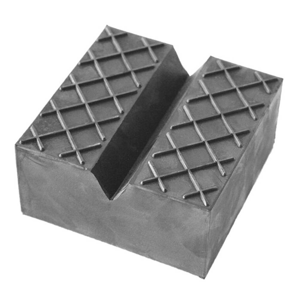 1pc Car Jack Pad Carriage Rubber Support Mat Lift Block High Quality 75*75*50mm V-Slot Jacks Pad Mat Cover