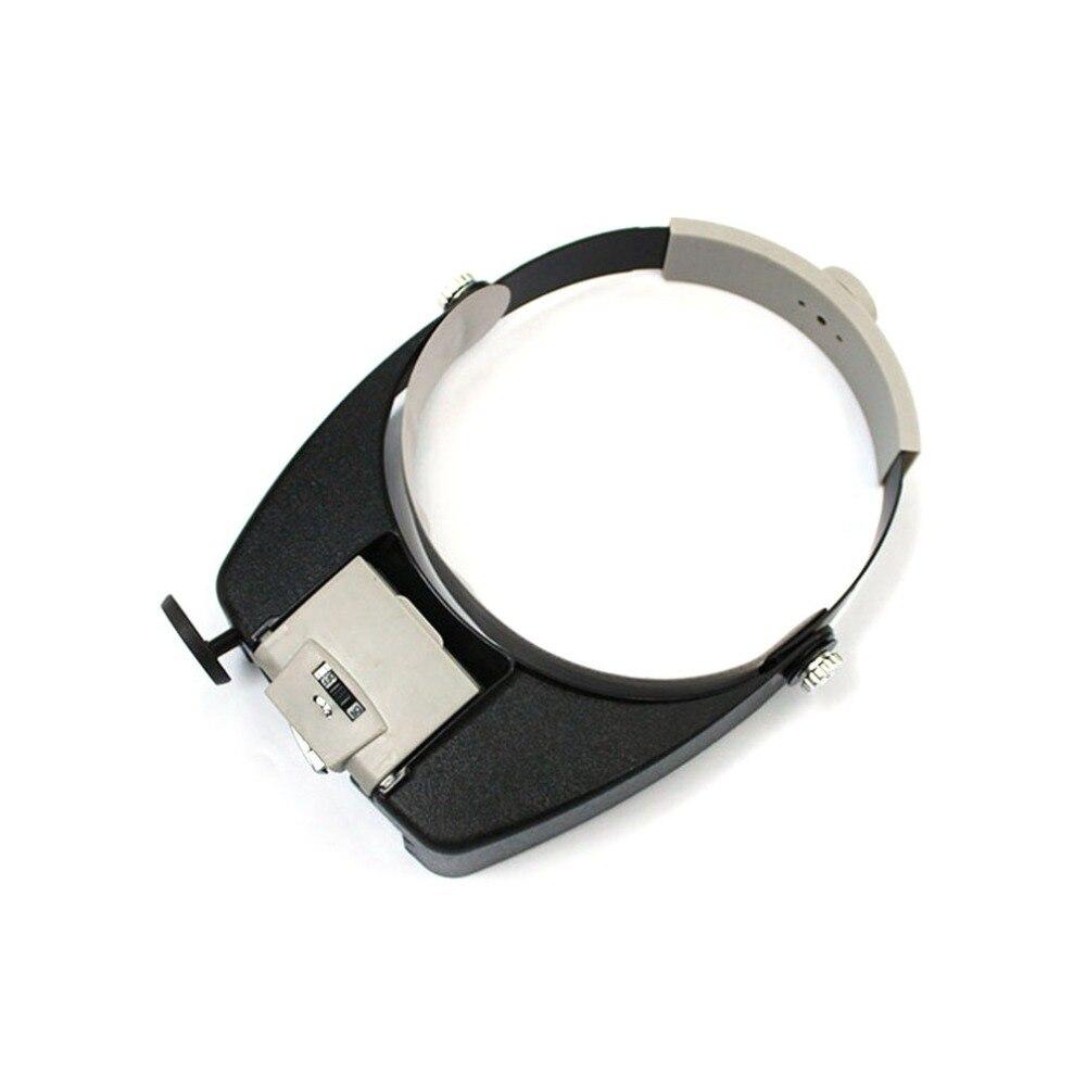 HOT LED Lamp Light Headband Jewelry Magnifying Glass Headband LED Light Magnifying Glass Lens Visor Toiletry Kits New Selling