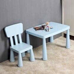Kindergarten kinder Tische und Stühle Set Kunststoff Tische und Stühle Baby Lernen Tische und kinder Spielzeug Tische Verdickt